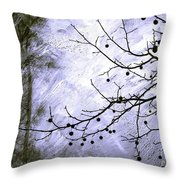 Sudden Snowstorm Throw Pillow by Judi Bagwell