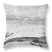 Suez Canal: Lake, 1869 Throw Pillow