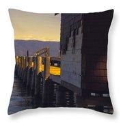 Sugar Pine Point Dock Throw Pillow