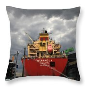 Sugar Ship Throw Pillow
