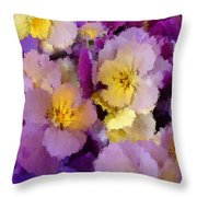 Sugared Pansies Throw Pillow