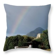 Sugarloaf Mountain, Glengarriff, Co Throw Pillow