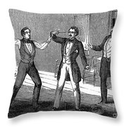 Suicide Attempt, 1859 Throw Pillow