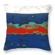 Sulfur Dioxide From Mt. Pinatubo Throw Pillow