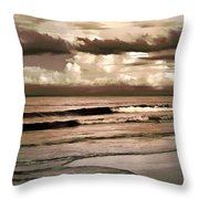 Summer Afternoon At The Beach Throw Pillow