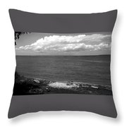 Summer At The Point Throw Pillow