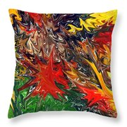 Summer Autumn Throw Pillow