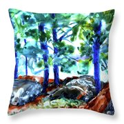 Summer By The Lake Throw Pillow
