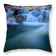 Summer Cascade Throw Pillow