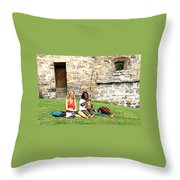 Summer Castle Throw Pillow