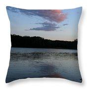 Summer Cloud Reflections Throw Pillow