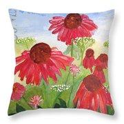 Summer Coneflowers Throw Pillow