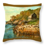 Summer Cottage Throw Pillow