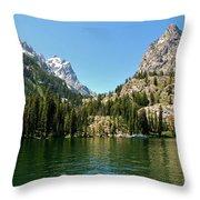 Summer Day At Jenny Lake Throw Pillow