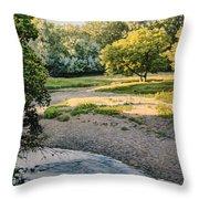 Summer Evening Along The Creek Throw Pillow