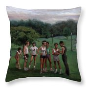Summer Evening Meet Throw Pillow