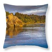 Summer Evening On Little River Throw Pillow