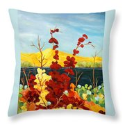 Summer Foliage Throw Pillow