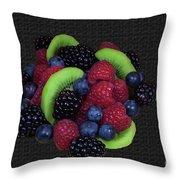 Summer Fruit Medley Throw Pillow