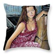 Summer Glau - River Tam Throw Pillow