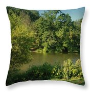 Summer Happiness - Holmdel Park Throw Pillow
