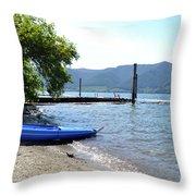 Summer Kayak Throw Pillow