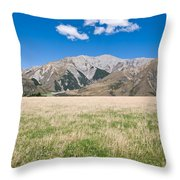Summer Landscape Blue Sky Throw Pillow
