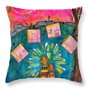 Summer Melodies Throw Pillow