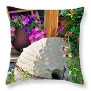 Summer Millstone Throw Pillow