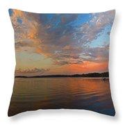Summer Night At Sebago Lake Throw Pillow