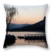 Summer Palace Evening Throw Pillow