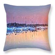 Summer Sails Reflections Throw Pillow