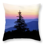Summer Solstice Sunrise Highland Scenic Highway Throw Pillow