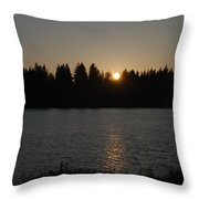 Summer Sunset Throw Pillow