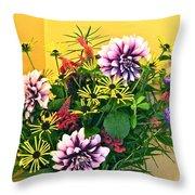 Summer To Autumn Bouquet Throw Pillow