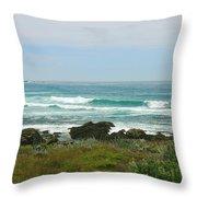 Summer Waters Aqua Throw Pillow