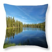 Summit Lake Blues Throw Pillow