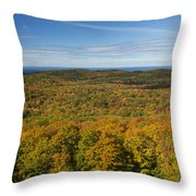 Summit Peak Autumn 12 Throw Pillow