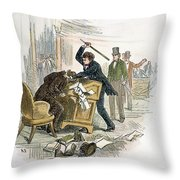 Sumner And Brooks, 1856 Throw Pillow