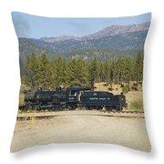 Sumpter Valley Railroad Throw Pillow