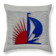 Sun And Sails Throw Pillow