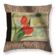 Sun And Tulips Throw Pillow