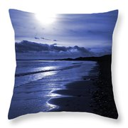 Sun At The Shore II Throw Pillow