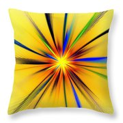 Sun Behind The Palm Leaves Throw Pillow