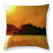 Sun Burned Throw Pillow