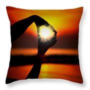 Sun Circle Throw Pillow