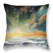 Sun Crash Throw Pillow