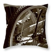 Sun Cruiser Wheels Throw Pillow