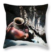 Sun Dappled Pottery Throw Pillow by Jeff Swan