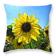 Sun Flower Throw Pillow